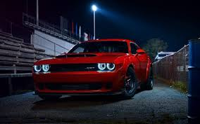 Dodge Challenger Red - download 2880x1800 dodge challenger sr 2018 front view red cars