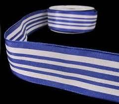 navy blue wired ribbon 5 yds nautical navy blue white striped wired ribbon 1 1 2 w ebay