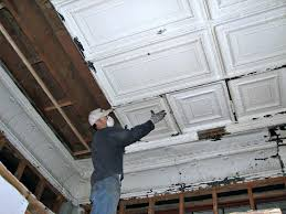 Installing Ceiling Tiles by A Diy Ceiling Tiles Project How Much Do Tin Ceiling Tiles Cost
