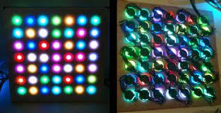 ge color effects led color changing christmas lights g 35 christmas lights do make a great led matrix hackaday