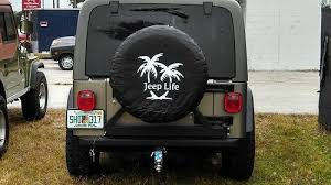 jeep life tire cover jeep life w palm tree tire cover decal jeeps baby