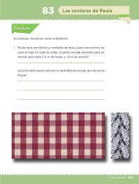 desafio matematico primaria pagina 154 las costuras de paula bloque iv lección 83 apoyo primaria