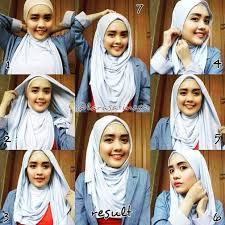 tutorial hijab pashmina kaos yang simple tutorial hijab pashmina kaos simple dan praktis model baju dan
