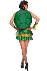 Michelangelo Ninja Turtle Halloween Costume Tmnt Michelangelo Dress Womens Costume 340426