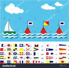 Nautical Code Flags Boat Sos Flags All Maritime Signal Stock Vector 157970360