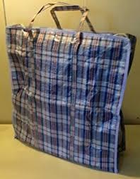 set of 4 large plastic checkered storage laundry