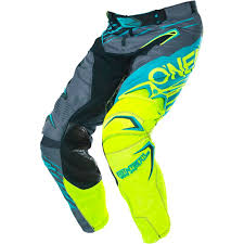 motocross gear set oneal 2017 mx new hardwear skizm teal neon fluro yellow motocross