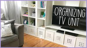 how to organize wires behind desk how to organize tv unit cable cord management youtube