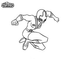 ranger yellow jumping power rangers samurai coloring