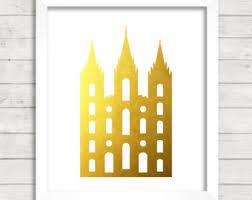 Home Decor Salt Lake City 8x10 Instant Download Seattle Washington Lds Temple Gold