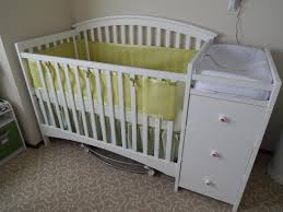 Mini Crib With Attached Changing Table Crib With Drawers And Changing Table Mini Baby Attached