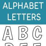 free alphabet letter templates to print printable alphabet letters