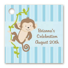 monkey boy baby shower baby shower favor tags monkey boy favor tags