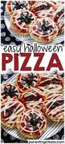 easy halloween pizza parenting chaos