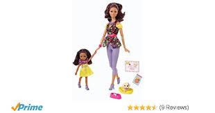 design doll 4 0 0 9 amazon com barbie so in style s i s pet fun fun doll 2 pack toys