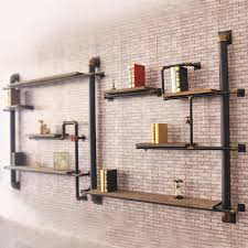 wall shelves design modern wooden wall shelves with brackets