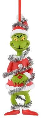 department 56 grinch stole in tinsel ornament