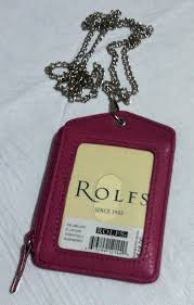 brand new rolfs id lanyard leather badge and 50 similar items