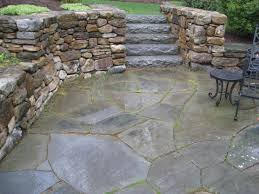 round patio stone exterior design amazing bluestone patio for modern outdoor design