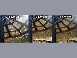 How To Make Tiki Hut Mexican Palm Thatch Roofing Materials How To Trim Palm Thatch