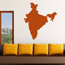Map Wall Decor by Aliexpress Buy Dctop Vinyl India Map Wall Sticker Removable