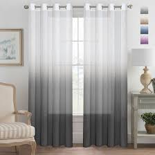 Ombre Sheer Curtains Functional Ombre Linen Sheer Curtains Pair Set Open Weave Curtain