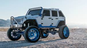 jeep bandit twin turbo cummins jeep wrangler on specialty forged wheels