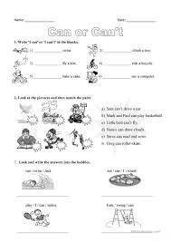 203 free esl can worksheets
