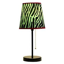 zebra print desk accessories limelights lt3000 zba fun prints table lamp black zebra