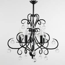Crystal And Black Chandelier Homeofficedecoration Modern Black Chandelier