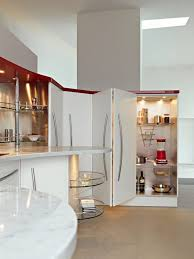 awesome kitchen wall unit lighting with glass shelving systems