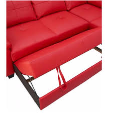 Red Sofa Set Png Fernando Leather Right Hand Sofa Bed Corner Group Red At Furnico
