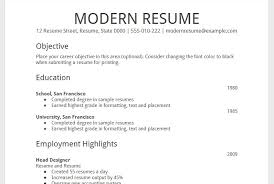 modern resume styles resume template format chronological resume template free word
