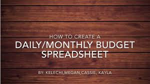 How To Create Budget Spreadsheet by How To Create A Daily Monthly Budget Spreadsheet On Excel On Vimeo