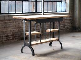 iron kitchen island console table pipe kitchen island maple modern industrial console