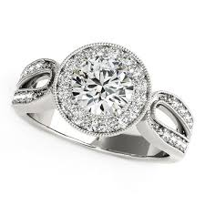 split band engagement rings 14k white gold with teardrop split band engagement