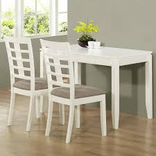 retro white painted pine wood dining table with gray upholstered