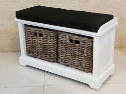 hallway storage bench with wicker baskets hemma u2013 hemma online