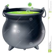 halloween witches cauldron stock vector image 79380878 green