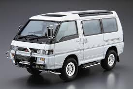 mitsubishi wagon 1990 1 24 mitsubishi p35w delica star wagon u002791 aoshima english