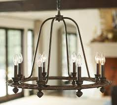 Candle Chandelier Pottery Barn Ornate Iron Ring Chandelier Pottery Barn Light Fixtures