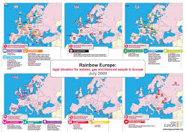 Map Of Romania In Europe by Ilga Europe Map On Legal Situation For Lgb People In Europe 2009