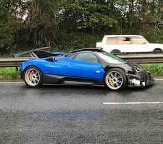 bugatti crash one off pagani zonda ps crashed in the uk