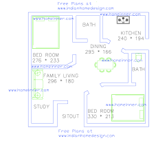 Indian House Floor Plan by Two Bedroom Floor Plan Simple House Plans View Square Feet Kerala
