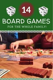 14 family board to play as a family to honor and