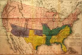 Davis Map Map Of The United States Showing The Territory Of The Federal