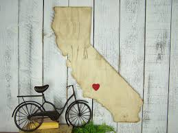 wooden california wall california wall california state wood state cut out
