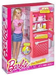 Barbie Glam Bathroom by Amazon Com Barbie Doll And Fridge Set Toys U0026 Games