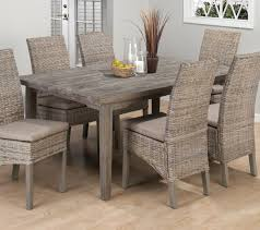 coastal dining room sets burnt grey driftwood dining table with 6 rattan chairs my rooms
