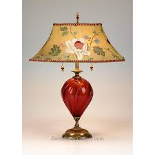 frida table lamp kinzig design red gold green salmon blown